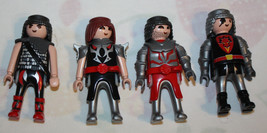 Playmobil Lot Knights Red Silver Figurines Mix Lot of 4 - $6.92