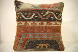 Kilim Pillows |16x16 | Decorative Pillows | 1595 | Accent Pillows turkis... - $49.00