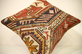 Kilim Pillows |16x16 | Decorative Pillows | 1597 | Accent Pillows turkis... - $49.00