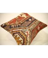 Kilim Pillows |16x16 | Decorative Pillows | 1597 | Accent Pillows turkis... - $49.00