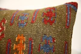 Kilim Pillows |16x16 | Decorative Pillows | 1601 | Accent Pillows turkis... - $49.00
