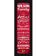 "Personalized Chicago Blackhawks ""Family Cheer"" 24 x 8 Framed Print - $38.50"