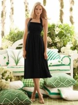 After Six..6554......Tea length, Halter Dress.......Black.....Size 10 - $39.59