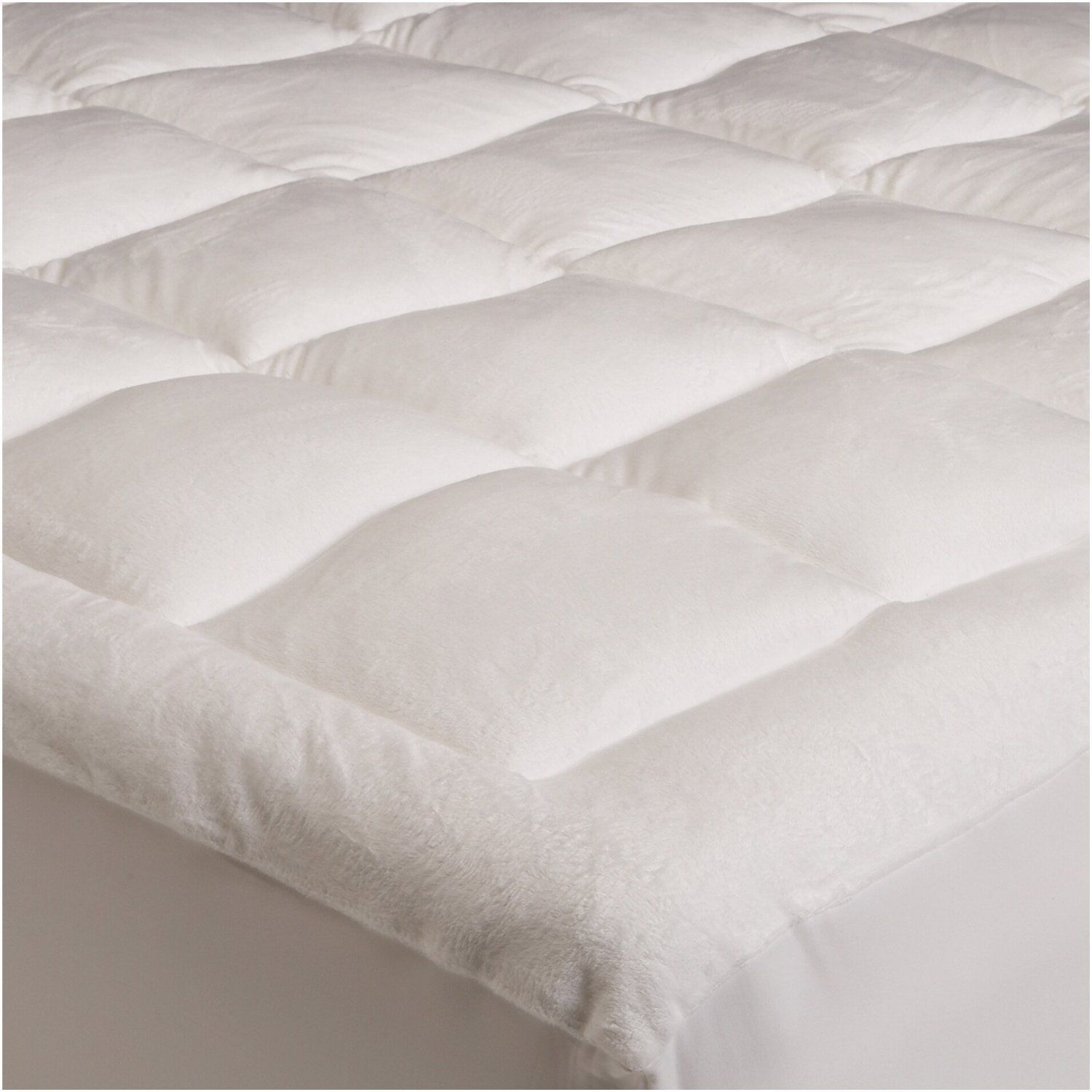 Mattress Pad Twin Size Microplush Topper Pillow Top Bed