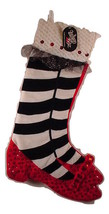 Kurt Adler Wizard of Oz Christmas  Stocking Ruby Slippers Sequins & Jewe... - $24.99