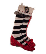 Kurt Adler Wizard of Oz Christmas  Stocking Ruby Slippers Sequins & Jewels NEW - €20,56 EUR