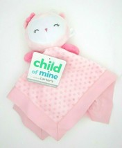 Carter's Child of Mine Baby Security Blanket Pink Owl Blankie and Rattle - $14.99