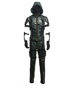 Cosplay Costume Green Leather Arrow Enhanced Version Full Sets - £162.82 GBP
