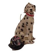 Kurt Adler A0042 Dalmatian Firehouse Dog W/Firefighters Helmet Christmas... - $12.99