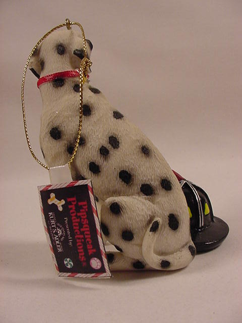 Kurt Adler A0042 Dalmatian Firehouse Dog W/Firefighters Helmet Christmas Ornamen