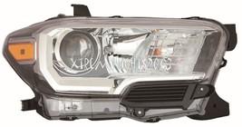 Toyota Tacoma Black Right Passenger Headlight Head Light Front Lamp W/O Drl - $222.75