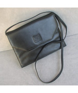 Handbag Ann Klein Black Genuine Leather Convertible Clutch  - $24.00
