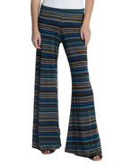L Veronica M Harper Blue/Brown Printed Flare Kn... - $45.54