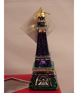 Landmark Creations La Tour Eiffel Tower Handcrafted Glass Christmas Orna... - $19.99
