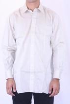 15.5 NWT Robert Talbott Beige Fine Woven Long Sleeve Button Down Dress S... - €106,10 EUR