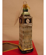 Landmark Creations Big Ben Clock Tower Handcrafted Glass Christmas Ornam... - $19.99