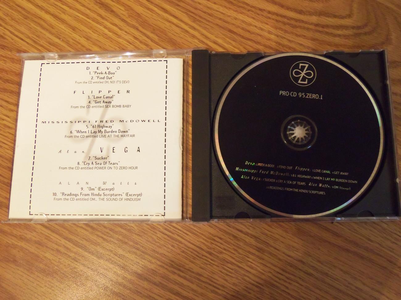Infinite Zero Promotional Cd #2 Flipper Devo Alan Vega Alan Watts Fred McDowell