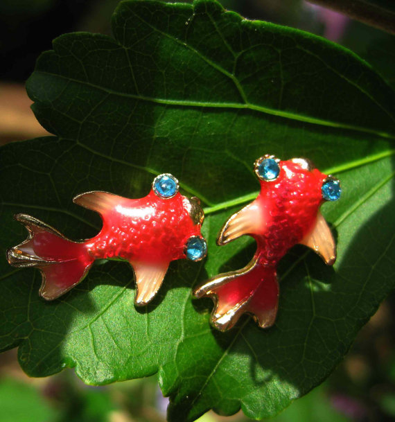 Haunted lucky koi fish earrings free with purchase for Lucky koi fish