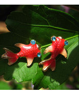 Haunted Lucky Koi Fish Earrings FREE with 50.00... - $0.00