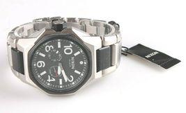 Nixon A397-000 Die Tangent Schwarz & Silber Ton Edelstahl Herren Armbanduhr image 4