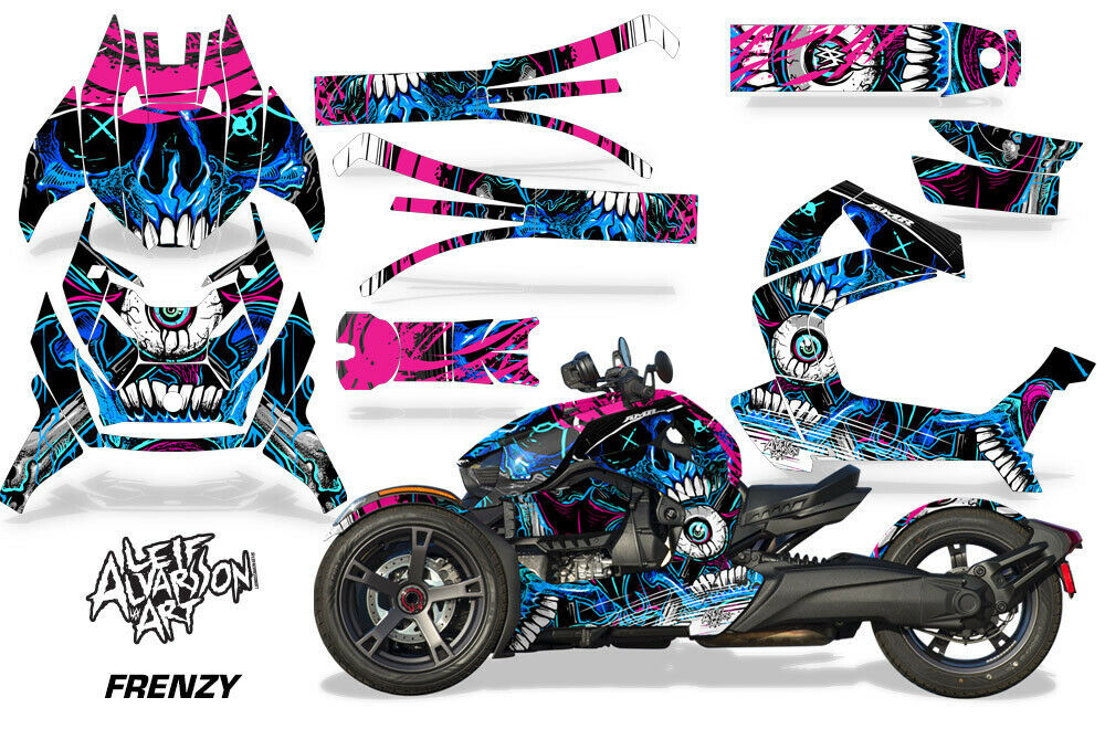 Full Body Wrap Graphic Sticker Decal for Can-Am Ryker 2019 - Frenzy Blue