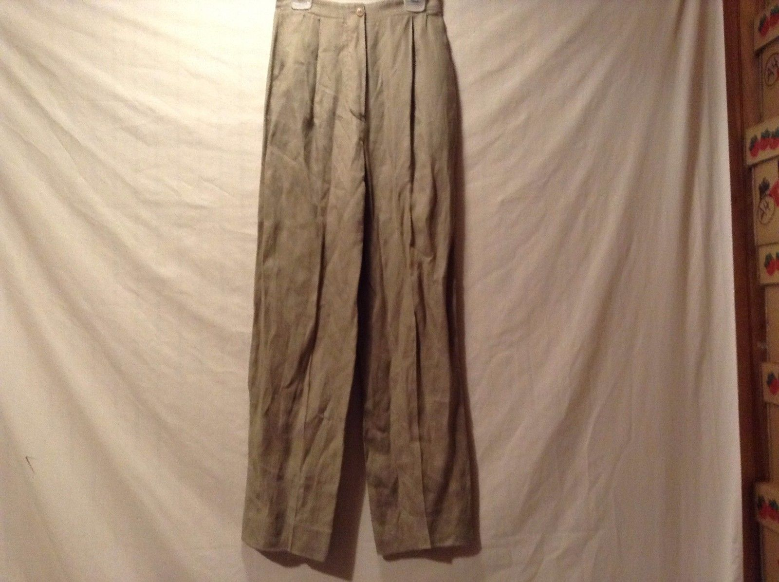 Used Great Condition Giorgio Armani Size 2 100% Linen Brown Pants