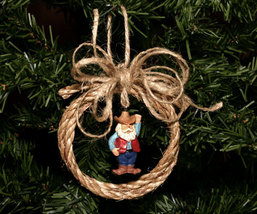 Handcrafted Rustic Western Rope Christmas Ornament - $5.95