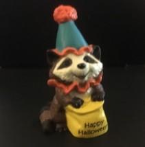 Hallmark Merry Miniatures 1989 Halloween Raccoon with Trick or Treat Sack - $2.96