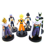 6 Pcs Anime Dragon Ball Z Super Saiyan Family Figures Son Goku Vegeta Co... - $15.00