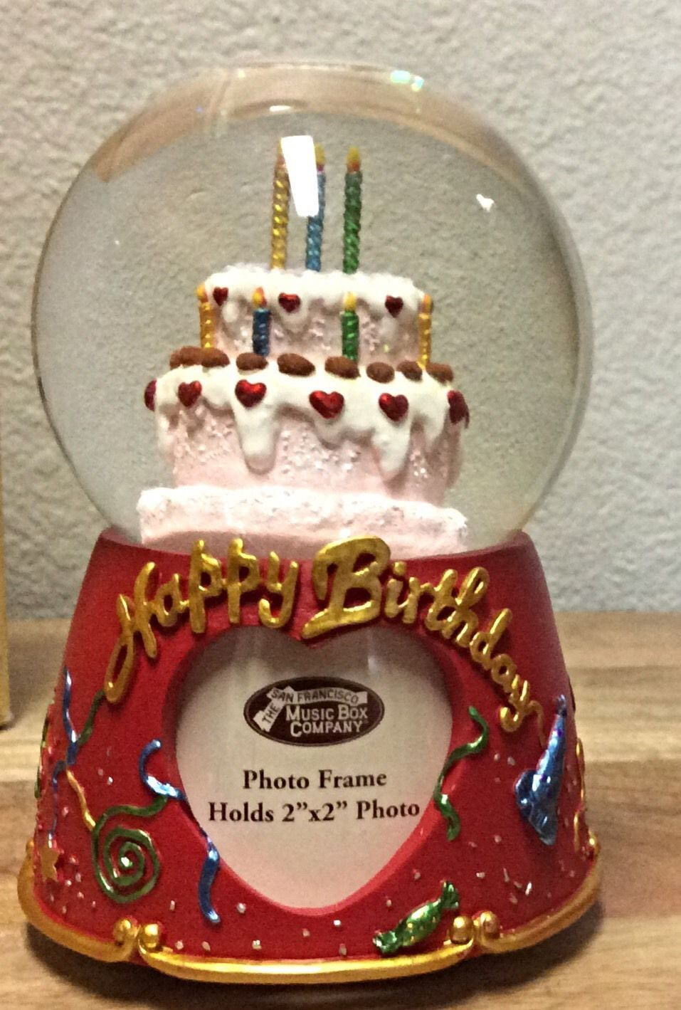 The San Francisco Music Box Co. Happy Birthday Personalized Water Globe~New