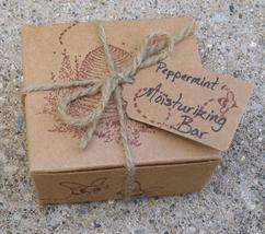 Lotion Bar-Peppermint  bees wax moisturizing bar for hands, heels, elbow... - $8.25