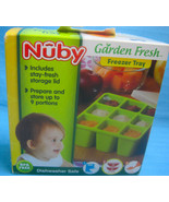 Nuby Garden Fresh Freezer Tray With Lid NEW Green - $14.95