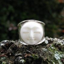 Intergalactic Alien Djinn Prophet Hybrid Carved Face Haunted Ring Spell Cast - $279.99