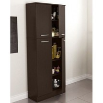 Food Pantry Cabinet with Doors Tall Wood Free S... - $158.34