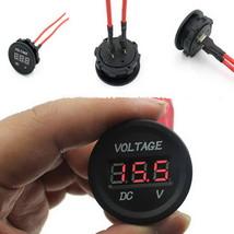 1 PC 12V-24V Car Motorcycle LED Digital Display Waterproof Voltmeter Met... - $18.03