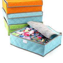 16-cell Womens Underwear Sorting Storage Foldable Box Case For Underwear... - $15.34