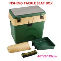 1Pc Sea Fishing Tackle Seat Storage Box Icludes Padded Strap Seat Pad St... - $148.01