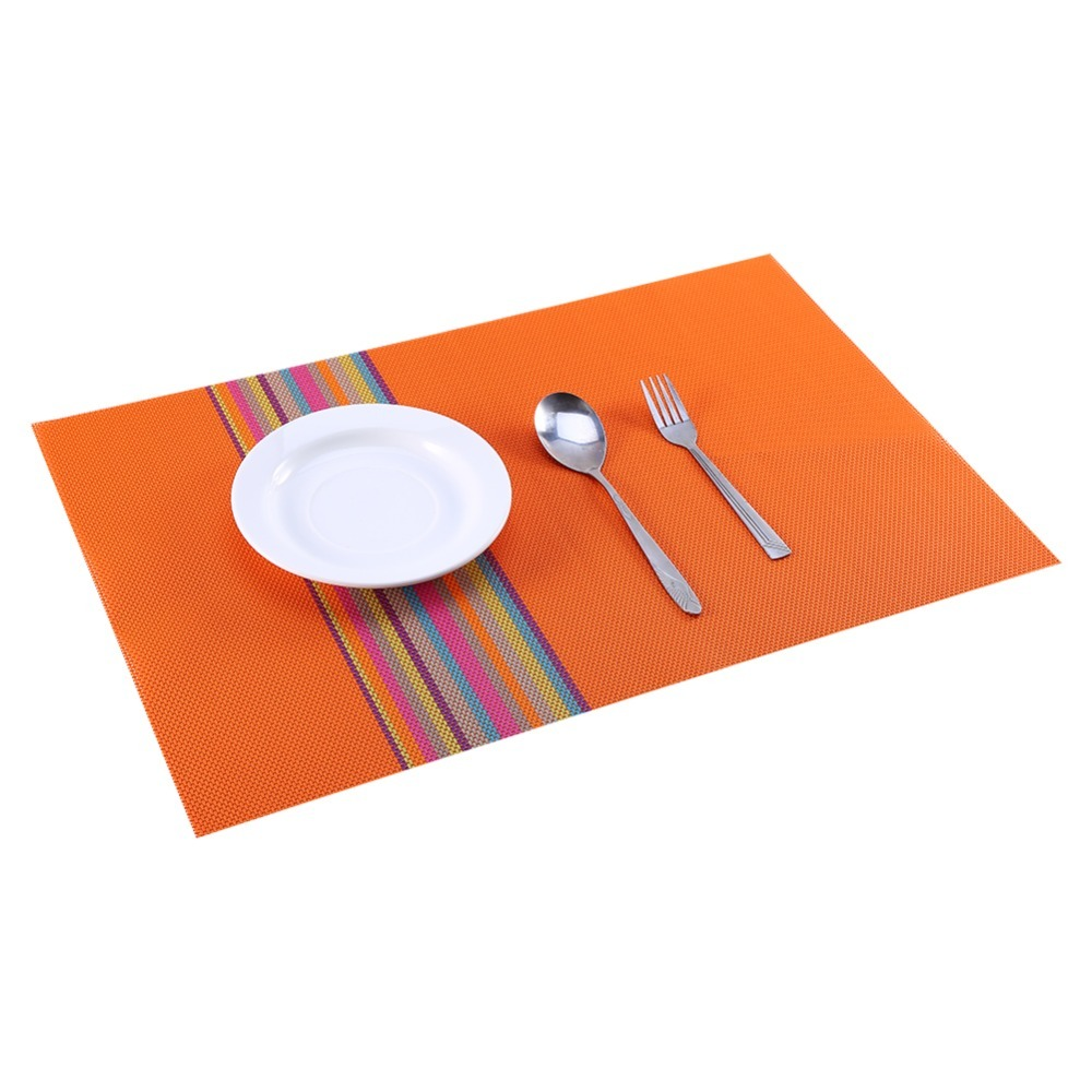 1pc pvc placemat dining table mats set de table bowl pad. Black Bedroom Furniture Sets. Home Design Ideas