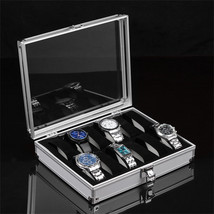 1pcs12 Grid Watches Display Show Storage Box Case Slots Jewelry Collecti... - $32.28