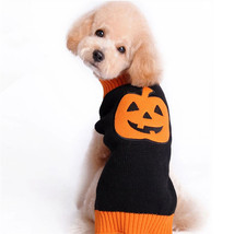 1Pcs Autumn Winter Pet Cat Dog Sweater Warm Knitting Crochet Pumpkin Hal... - $20.71