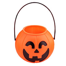 2 Pcs Smile Pumpkin Bucket Pot Candy Holder Halloween Party Decorations ... - $10.63