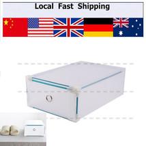 5x Clear Plastic See Through Drawer Shoe Storage Box Metal Edge 30x18x10cm - $28.93