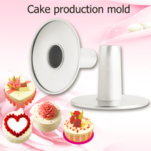 and 6 Aluminum Alloy Non-stick Chimney Bottom Shape Cake Bake Mould - $10.75