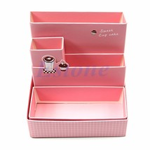 DIY Paper Board Storage Box Desk Decor Stationery Makeup Cosmetic Organi... - $9.30