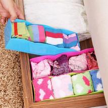Office Clothing Organizer Storage Box Plastic 4 Grid Underwear Ties Sock... - $16.39