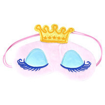 Sweet Long Eyelashes Crown Cartoon Eyeshade Sleep Eye Cover Eye Blinder ... - €7,29 EUR