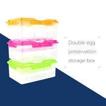 Two Layers Egg Food Container Storage Box Container 24 grid Basket Organ... - $36.85