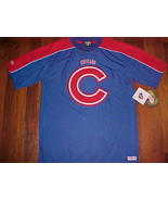 Stitches MLB NLCentral  Chicago Cubs Blue Red Logo Men Pullover Jersey M... - $39.59