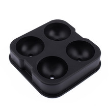 Black Silicone Whiskey Ice Cube Ball Maker Mold... - $13.33