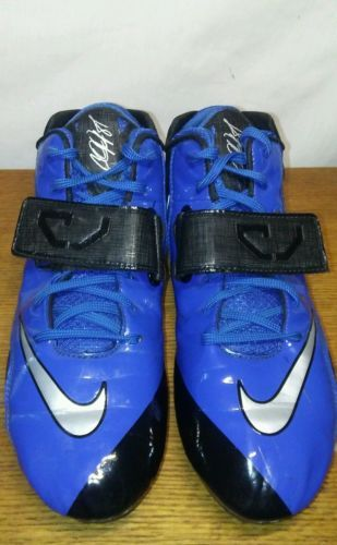 Men`s Football Cleats Nike Calvin Johnson Strike 2 Mid Molded Blue Black Size 14